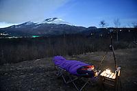 Japan_Star gazing outside Hoshinoya Karuizawa luxury resort at the foot of Mt. Asam.