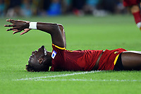 12th September 2021; Olympic Stadium, Rome, Italy, Serie A championship football, Roma versus Sassuolo ; Tammy Abraham of AS Roma reacts to a chance