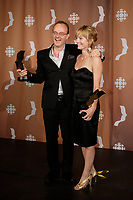 Montreal (Qc) CANADA - Sept 14, 2008 - <br /> <br /> <br /> <br /> Pierre Verville,Laurence Leboeuf ,  LES LAVIGUEUR<br /> , LA VRAI HISTOIRE,<br /> <br /> 2008 Gemeaux Gala rewarding French-Canadian television.