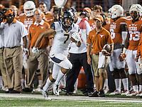 AUSTIN, TX - September 19, 2015. The Cal Bears football team vs the University of Texas Longhorns at Texas Memorial Stadium in Austin, Texas. Final score, Cal Bears 44, Texas Longhorns 43.