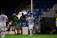 LAKE BUENA VISTA, FL - JULY 27: Latif Blessing #7 of LAFC celebrates a goal during a game between Seattle Sounders FC and Los Angeles FC at ESPN Wide World of Sports on July 27, 2020 in Lake Buena Vista, Florida.