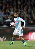 Calcio, Serie A: Napoli, stadio San Paolo, 2 aprile, 2017.<br /> Napoli's Lorenzo Insigne in action during the Italian Serie A football match between Napoli and Juventus at San Paolo stadium, April 2, 2017<br /> UPDATE IMAGES PRESS/Isabella Bonotto
