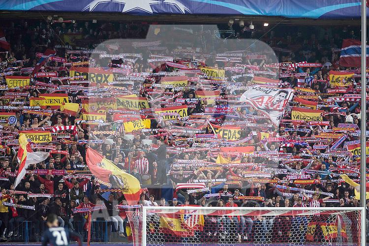 Atletico de Madrid's supporters during Champions League 2015/2016 Quarter-Finals 2nd leg match. April 13, 2016. (ALTERPHOTOS/BorjaB.Hojas)