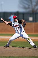Ryan Cole (10) of the St. John's Red Storm in action versus the North Carolina Tar Heels at the 2008 Coca-Cola Classic at the Winthrop Ballpark in Rock Hill, SC, Sunday, March 2, 2008.