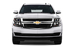 Car photography straight front view of a 2019 Chevrolet Tahoe LS 5 Door SUV