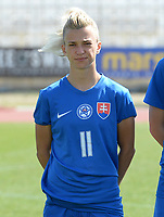 20180307 - LARNACA , CYPRUS :  Slovakian Patricia Hmirova pictured during a women's soccer game between  Slovakia and the Czech Republic , on Wednesday 7 March 2018 at the GSZ Stadium in Larnaca , Cyprus . This is the final game in a decision for 9 th or 10 th place of the Cyprus Womens Cup , a prestigious women soccer tournament as a preparation on the World Cup 2019 qualification duels. PHOTO SPORTPIX.BE   DAVID CATRY
