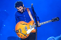 Louis-Jean Cormier performs during a concert at the Festival d'ete de Quebec in Quebec City Monday July 7, 2014.