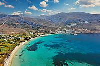 Aegiali beach of Amorgos island in Cyclades, Greece