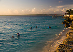 Bonaire, Netherland Antilles -- Bachelor's Beach is one of many marked swimming and dive sights on Bonaire.  This particular place is also popular with locals looking for an evening swim near sunset most days.
