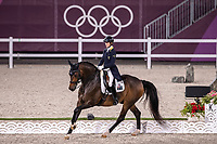 AUS-Kelly Layne rides Samhitas during the Dressage Grand Prix Team and Individual Qualifier Day 2 at the Equestrian Park. Tokyo 2020 Olympic Games. Sunday 25 July 2021. Copyright Photo: Libby Law Photography