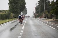 Philipp Walsleben (DEU/Beobank-Corendon) leading the way in the rain<br /> <br /> Dwars door het Hageland (1.1)<br /> 1 Day Race: Aarschot > Diest (194km)