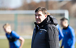 St Johnstone Training…….03.03.20<br />Manager Tommy Wright pictured during training this morning at McDiarmid Park ahead of tomorrow night's game at St Mirren.<br />Picture by Graeme Hart.<br />Copyright Perthshire Picture Agency<br />Tel: 01738 623350  Mobile: 07990 594431