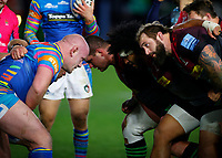 13th February 2021; Twickenham Stoop, London, England; English Premiership Rugby, Harlequins versus Leicester Tigers; Dan Cole of Leicester Tigers in his 250th appearance up against Marler of Harlequins