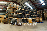 Dingle Distillery's whisky in their warehouse
