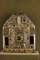 Europe/France/Auvergne/12/Aveyron/Conques: Reliquaire hexagonal argent, vermeil, émaux - VIIIème et XIIème