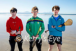 Enjoying a puck around on Ballyheigue beach on Sunday, l to r: James King, Darren Quirke and Wesley Mosk.