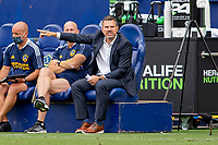 CARSON, CA - APRIL 25: Greg Vanney head coach of the Los Angeles Galaxy giving directions during a game between New York Red Bulls and Los Angeles Galaxy at Dignity Health Sports Park on April 25, 2021 in Carson, California.