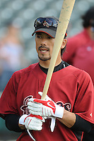 15 March 2009: Kazuo Matsui of the Houston Astros before a game against the Atlanta Braves at the Braves' Spring Training camp at Disney's Wide World of Sports in Lake Buena Vista, Fla. Photo by:  Tom Priddy/Four Seam Images