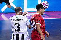 9th October 2020; Palau Blaugrana, Barcelona, Catalonia, Spain; UEFA Futsal Champions League Finals; Mrucia FS versus MFK Tyumen;   Emelyanov and Tolra