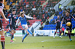 St Johnstone v Ross County…24.02.18…  McDiarmid Park    SPFL<br />Murray Davidson scores his second goal<br />Picture by Graeme Hart. <br />Copyright Perthshire Picture Agency<br />Tel: 01738 623350  Mobile: 07990 594431