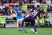 Fabian Ruiz of Napoli and German Pezzella of Fiorentina compete for the ball<br /> Firenze 24-8-2019 Stadio Artemio Franchi <br /> Football Serie A 2019/2020 <br /> ACF Fiorentina - SSC Napoli <br /> Photo Cesare Purini / Insidefoto