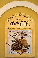 France/06/Alpes-Maritimes/Nice: Enseigne d'une boulangerie rue Droite