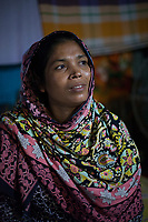 """Rihaa*, 35, lives in a slum in Dhaka with her husband and 3 children. She and her youngest daughter Sumaiya*, 15, work from home doing ornamental stitching, dress decoration and flower chains. """"My daughter works about 2 hours a day to contribute to our family income, but I would never take her out of school"""", says Rihaa*. """"I want all of my children to be independent and get the education that I have never been able to receive."""""""