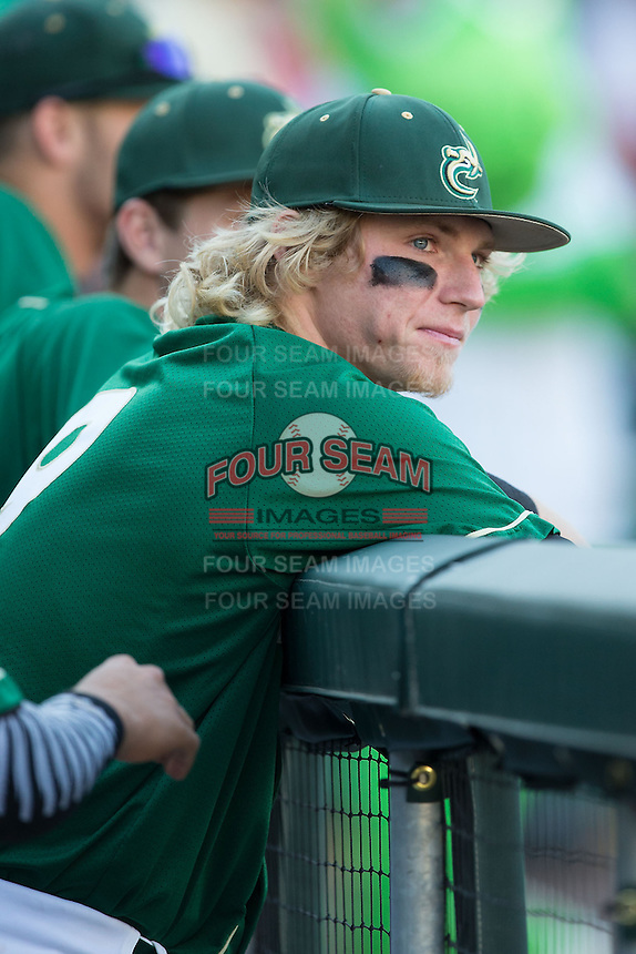 Brett Netzer (9) of the Charlotte 49ers prior to the game against the North Carolina State Wolfpack at BB&T Ballpark on March 31, 2015 in Charlotte, North Carolina.  The Wolfpack defeated the 49ers 10-6.  (Brian Westerholt/Four Seam Images)