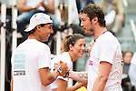 Rafa Nadal and Marat Safin during the Charity Day of the Mutua Madrid Open at Caja Magica in Madrid. April 29, 2016. (ALTERPHOTOS/Borja B.Hojas)