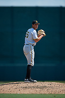 Pittsburgh Pirates pitcher Jake Brentz (56) gets ready to deliver a pitch during an Instructional League game against the Baltimore Orioles on September 27, 2017 at Ed Smith Stadium in Sarasota, Florida.  (Mike Janes/Four Seam Images)