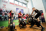 Ride to Power HSBC prior to the HSBC Hong Kong Rugby Sevens 2017 on 05 April 2017 in HSBC Main Building, Hong Kong, China. Photo by Chris Wong / Power Sport Images