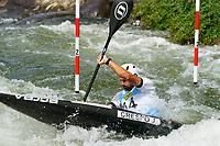 4th September 2021; Parc Olimpic del Segre, La Seu D'Urgell ICF Slalom World Cup, men's Kayak Final;  Joan Crespo (ESP)