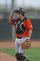 John Riley #5 of the AZL Giants during a game against the AZL Mariners at the Peoria Sports Complex on July 10, 2014 in Peoria, Arizona. AZL Giants defeated the AZL Mariners, 8-4. (Larry Goren/Four Seam Images)