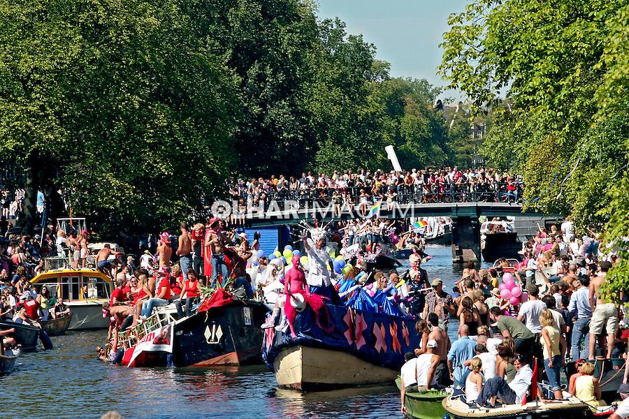 Parada Dia do Orgulho Gay. Amsterdã. Holanda. 2007.  Foto de Marcio Nel Cimatti.