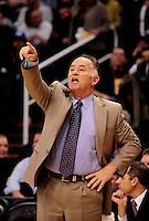 Dec. 3, 2010; Phoenix, AZ, USA; Indiana Pacers head coach Jim O'Brien in the second half against the Phoenix Suns at the US Airways Center. Mandatory Credit: Mark J. Rebilas-