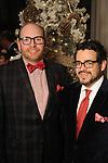 Darrin Davis and Mario Gudmundson at the M.D. Anderson Santa's Elves party Thursday Dec. 07,2017. (Dave Rossman Photo)