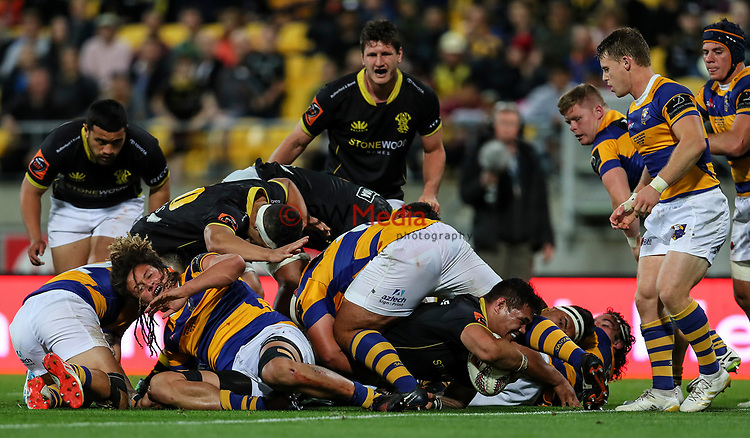 Action during the Mitre 10 Cup Championship Final between Wellington and Bay of Plenty at Westpac Stadium, Wellington,  New Zealand. Friday 27 October 2017. Photo: Simon Watts / www.bwmedia.co.nz