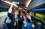 St Johnstone v Dundee United....17.05.14   William Hill Scottish Cup Final<br /> David Wotherspoon takes a selfie with his team mates on the journey back to Perth<br /> Picture by Graeme Hart.<br /> Copyright Perthshire Picture Agency<br /> Tel: 01738 623350  Mobile: 07990 594431