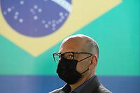 SÃO PAULO, SP, 16.06.2021 - COVID-19-SP - Dimas Covas, Diretor do Instituto Butantan, anuncia o início do envio das novas remessas de doses da vacina contra o novo coronavírus ao Programa Nacional de Imunizações (PNI) do Ministério da Saúde, no Instituto Butantan, nesta quarta-feira, 16. (Foto Charles Sholl/Brazil Photo Press)