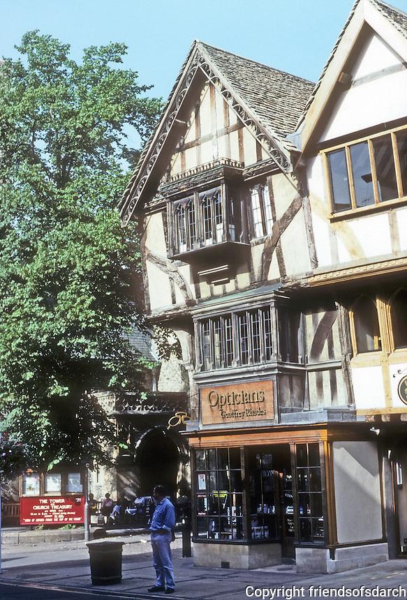 Oxford: Half-timbered building, Cornmarket. Photo '87.