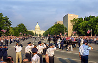 Ronald Reagan Funeral Procession down Constitutuin to lay in State at US Capitol