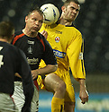 15/03/2005         Copyright Pic : James Stewart.File Name : jspa05_falkirk_v_clyde.JOHN HUGHES AND GARY ARBUCKLE  CHALLENG....Payments to :.James Stewart Photo Agency 19 Carronlea Drive, Falkirk. FK2 8DN      Vat Reg No. 607 6932 25.Office     : +44 (0)1324 570906     .Mobile   : +44 (0)7721 416997.Fax         : +44 (0)1324 570906.E-mail  :  jim@jspa.co.uk.If you require further information then contact Jim Stewart on any of the numbers above.........A