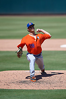 St. Lucie Mets pitcher Andrew Mitchell (28) during a Florida State League game against the Bradenton Marauders on July 28, 2019 at LECOM Park in Bradenton, Florida.  Bradenton defeated St. Lucie 7-3.  (Mike Janes/Four Seam Images)