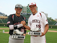 August 8, 2009:  Nick Castellanos and Jameson Taillon after the Under Armour All-America game at Wrigley Field in Chicago, IL.  Photo By Mike Janes/Four Seam Images