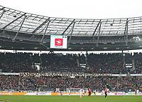 31.03.2018, Football 1. Bundesliga 2017/2018, 28.  match day, Hannover 96 - RB Leipzig, in HDI-Arena Hannover. Videoassistent wird eingesetzt, Protest RB, Transparent,  *** Local Caption *** © pixathlon<br /> <br /> Contact: +49-40-22 63 02 60 , info@pixathlon.de