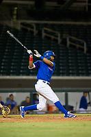 AZL Cubs left fielder Jonathan Sierra (22) at bat against the AZL Diamondbacks on August 11, 2017 at Sloan Park in Mesa, Arizona. AZL Cubs defeated the AZL Diamondbacks 7-3. (Zachary Lucy/Four Seam Images)