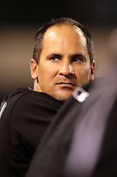 Chicago White Sox infielder Omar Vizquel #11 during a game against the Los Angeles Angels at Angel Stadium on August 23, 2011 in Anaheim,California. Los Angeles defeated Chicago 5-4.(Larry Goren/Four Seam Images)