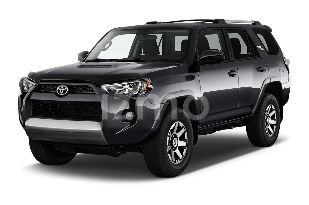 2018 Toyota 4Runner Off-Road 5 Door SUV angular front stock photos of front three quarter view