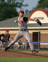 August 12, 2003:  Pitcher Joey DeLeon of the Tri-City ValleyCats during a game at Dwyer Stadium in Batavia, New York.  Photo by:  Mike Janes/Four Seam Images