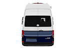 Straight rear view of 2020 Volkswagen Grand-California 600 4 Door Refrigerated Van Rear View  stock images